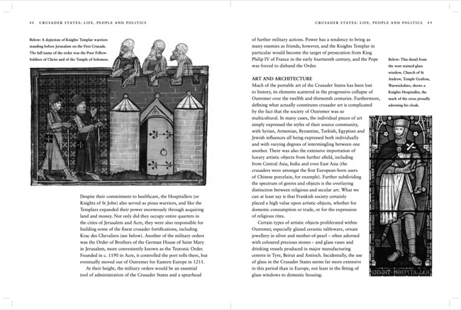 sample spreads from the Crusades by Chris McNab